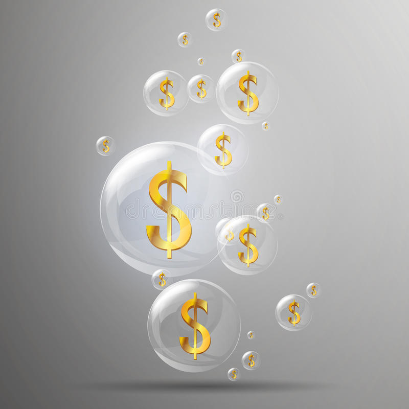 Download Golden Dollar Signs stock illustration. Illustration of blowing - 30488999