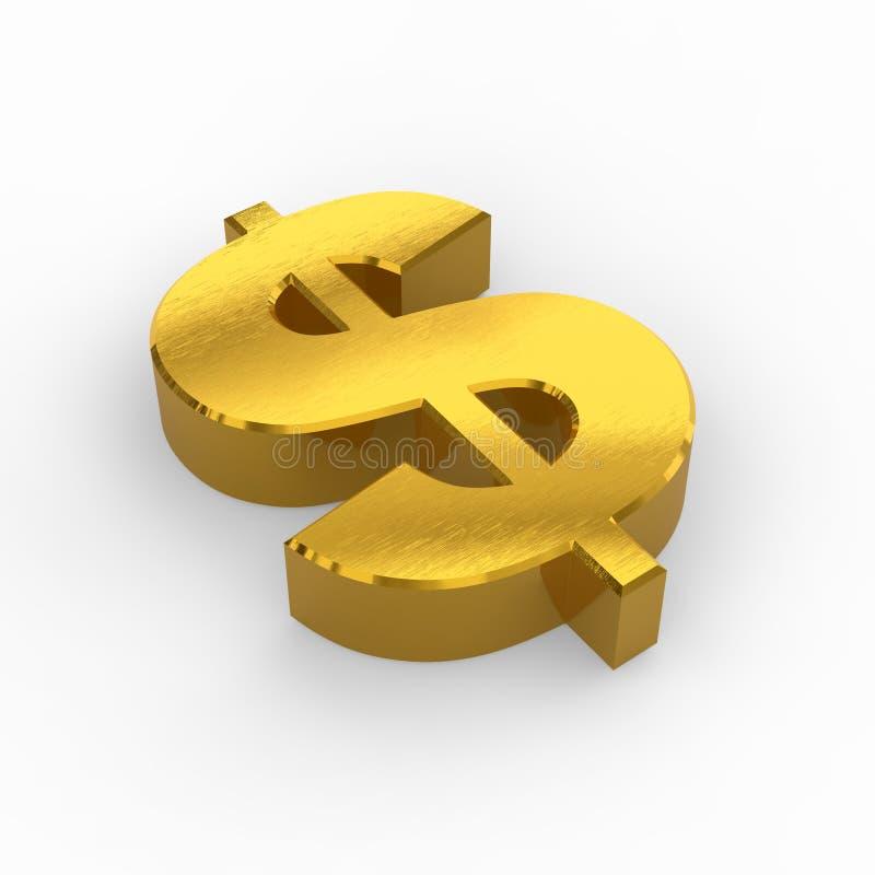 Golden dollar symbol stock illustration