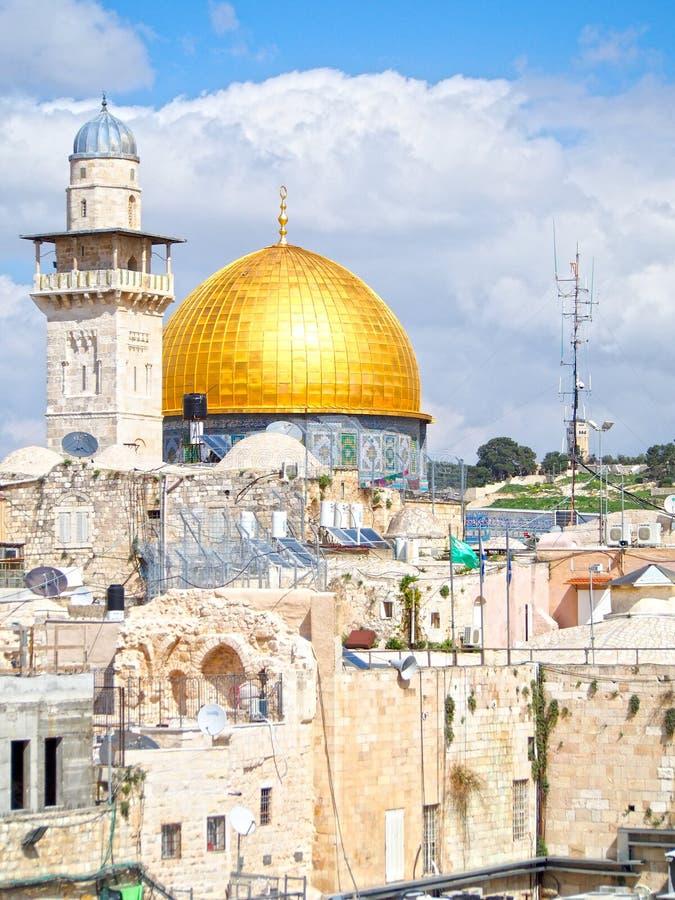 Golden Dome на Temple Mount в Иерусалиме стоковые изображения rf