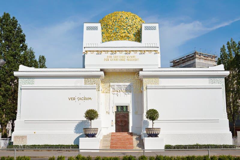 Golden Dome av Wien utträdebyggnad arkivbilder