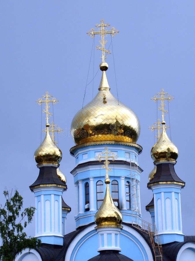 Golden Dome da catedral imagem de stock