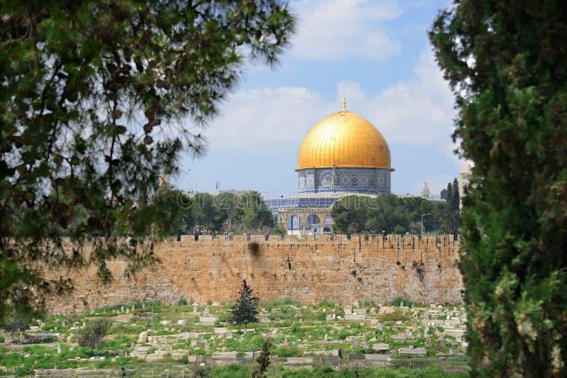 Golden Dome da rocha Jerusalem velho israel imagem de stock royalty free