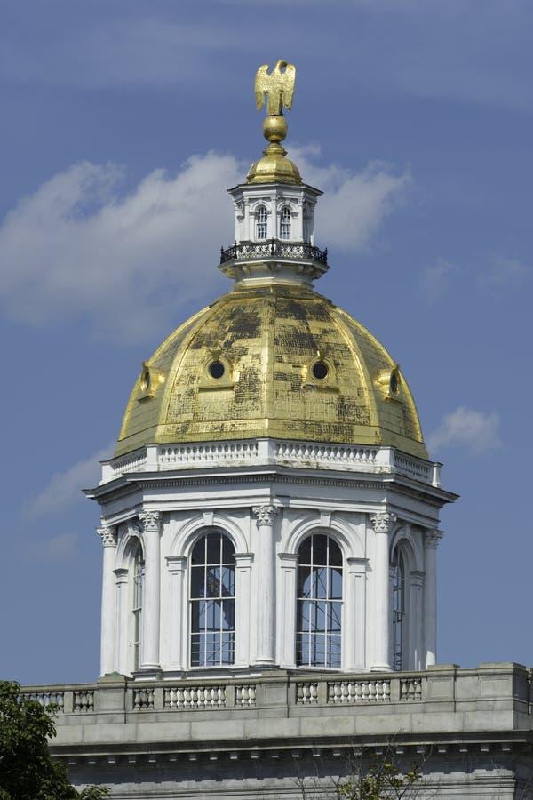Golden Dome de capitol de New Hampshire photo libre de droits