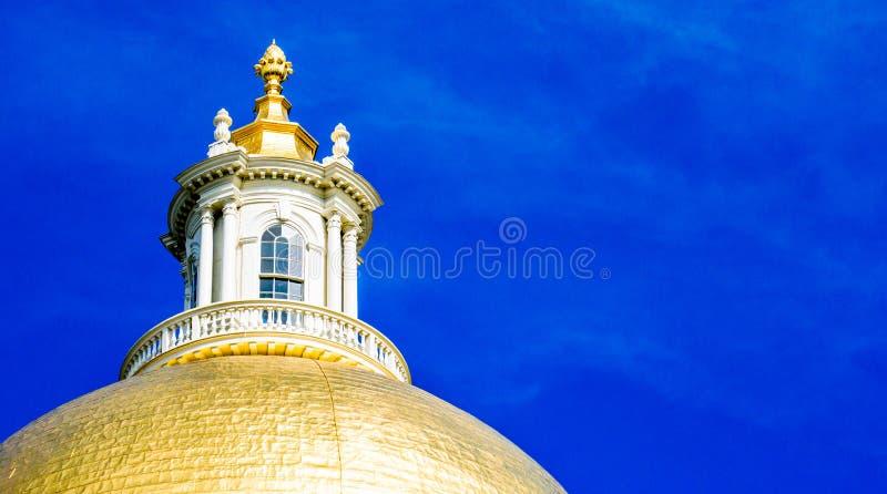 Golden Dome de la casa del estado de Massachusetts fotos de archivo