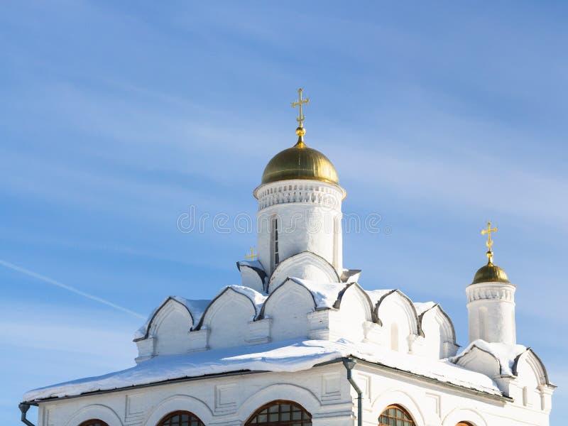 Golden Dome della cattedrale di Pokrovsky in Suzdal' fotografia stock