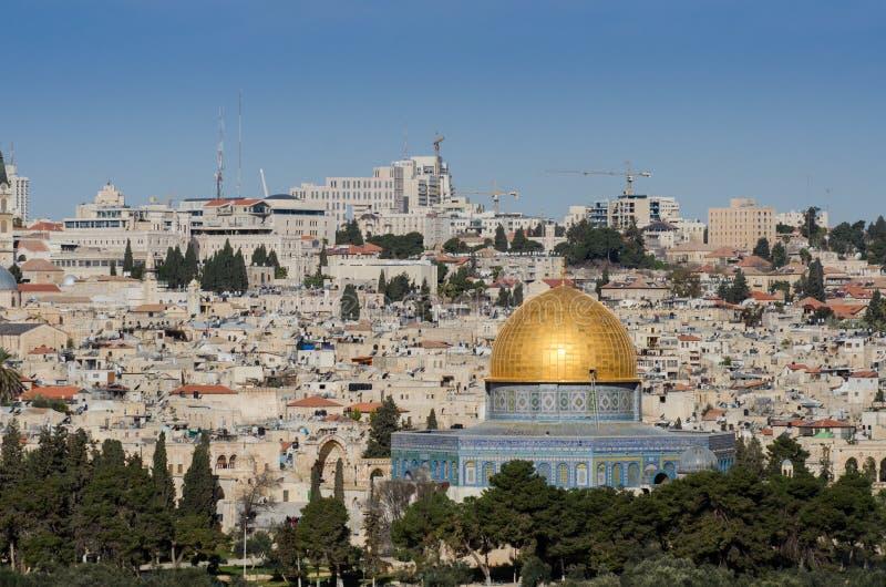 Golden Dome des Felsens jerusalem stockfotos