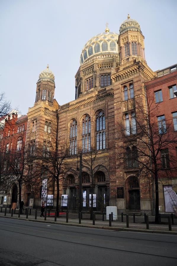 Golden Dome von Neue Synagoge der Berlin Jewish-Gemeinschaft oder der Synagoge Oranienburger Strasse an Berlin-Stadt stockbilder