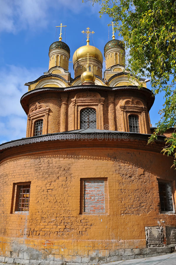 Golden Domed Church, Moscow stock image