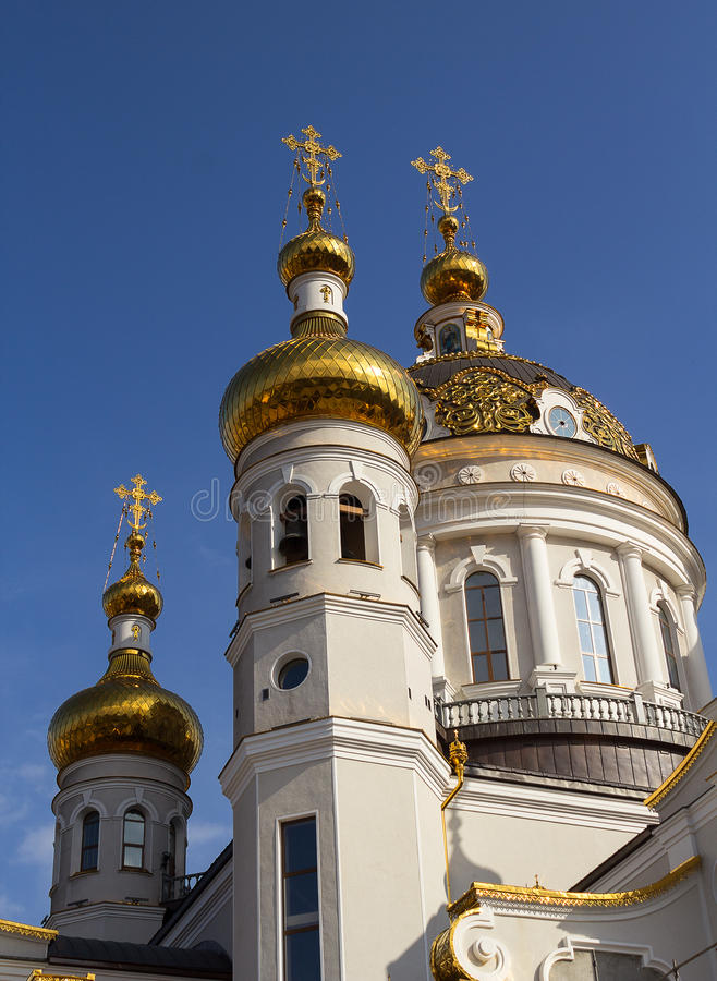 Free Golden Domes Of The Orthodox Church. Donetsk Stock Photo - 87431220