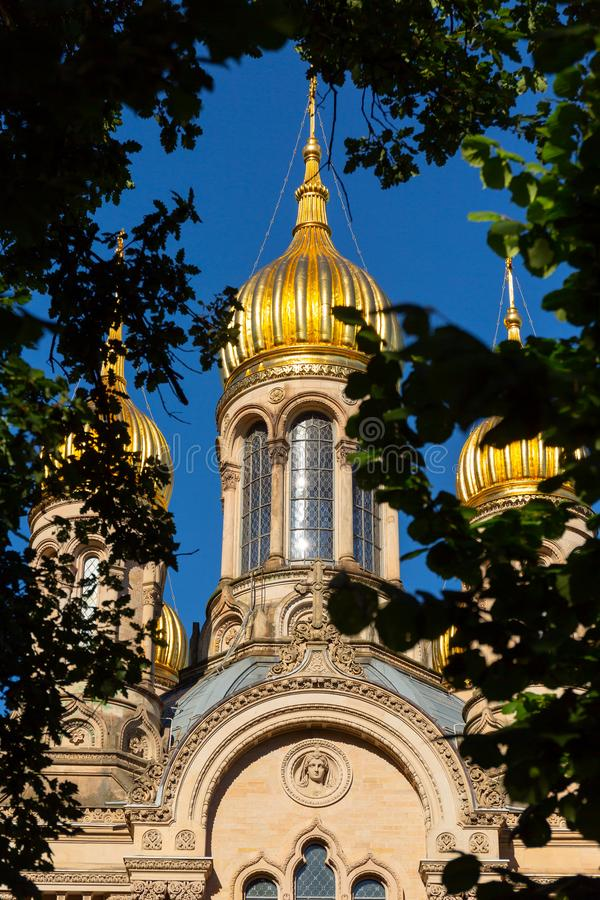 Golden Domes of Russian Orthodox Church royalty free stock image