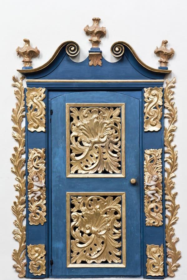Golden doo. Interior of baroque church.