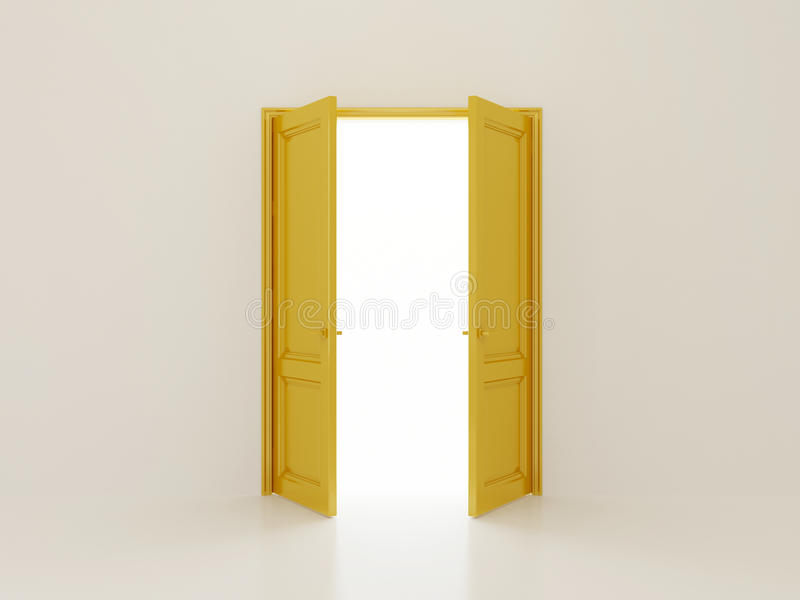 Golden doors & Golden doors stock illustration. Illustration of yellow - 23336311