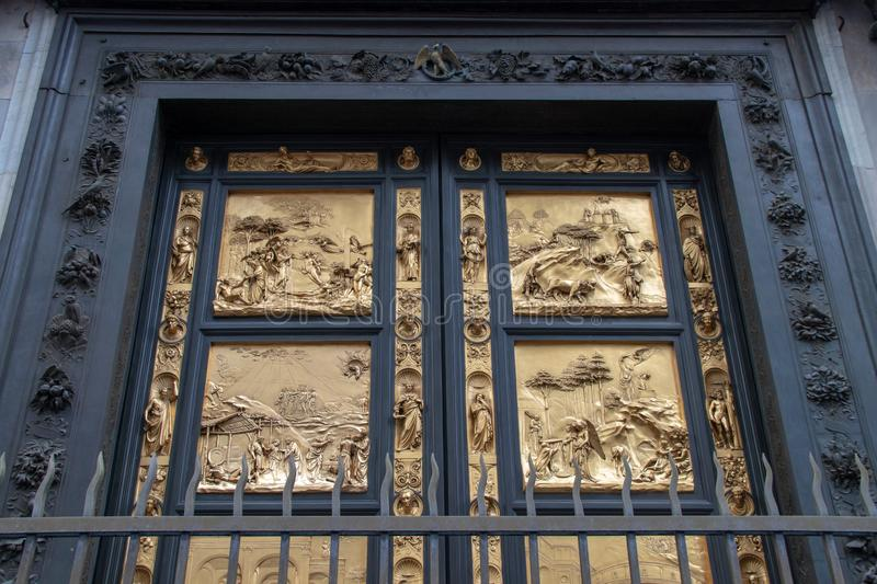Golden Doors Of The Florence Baptistery Stock Image ...