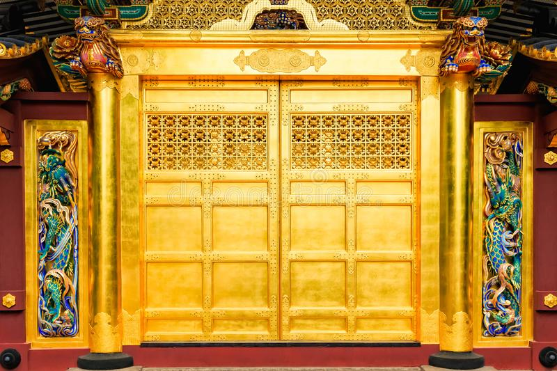 Download Golden Doors Of Toshogu Shrine Famous Temple In Ueno Park In Tokyo Japan. & Golden Doors Of Toshogu Shrine Famous Temple In Ueno Park In Tokyo ...