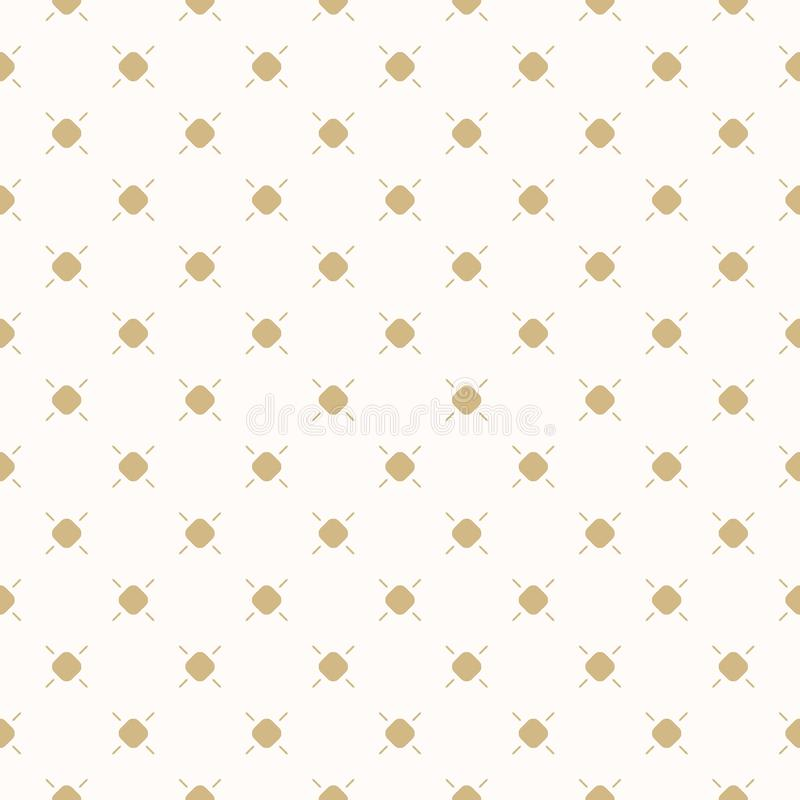 Golden dots vector seamless pattern. Subtle gold and beige polka dot texture. vector illustration