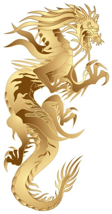 Golden Dragon vector illustration