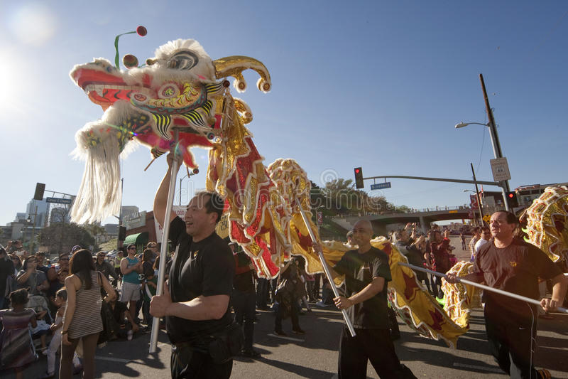 Download Golden Dragon Parade Dragon Dancers Editorial Stock Photo - Image of legend, american: 23651098