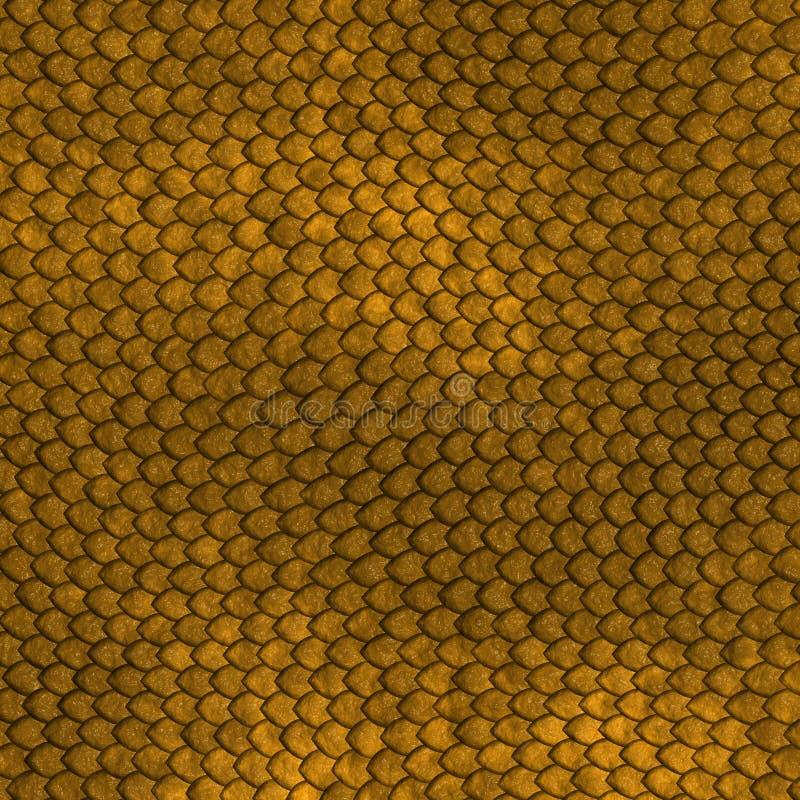 Golden Dragon scales pattern royalty free illustration