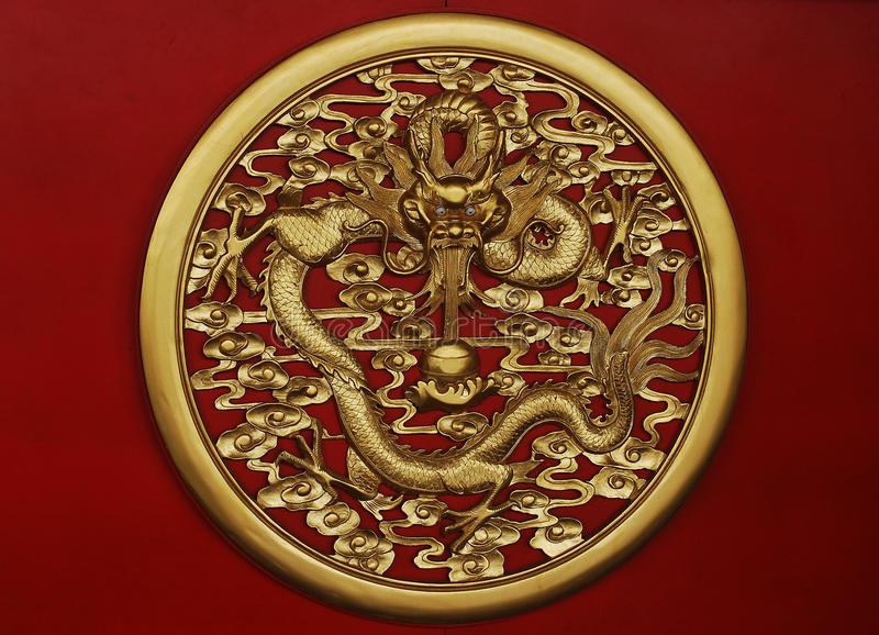 Download Golden dragon sculpture stock photo. Image of culture - 16228294