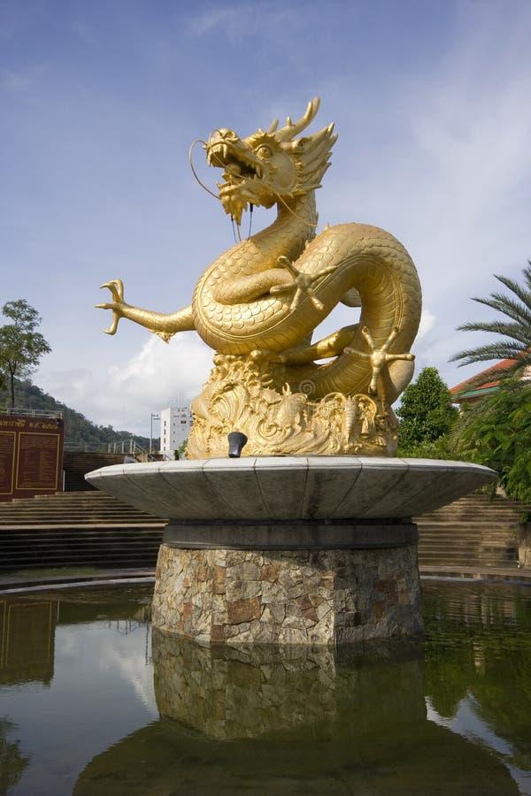 Golden Dragon Statue Royalty Free Stock Photos