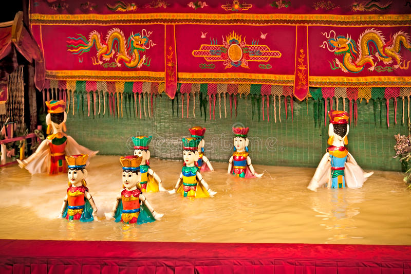 Golden Dragon Water Puppets Theatre in Saigon, Vietnam. royalty free stock images