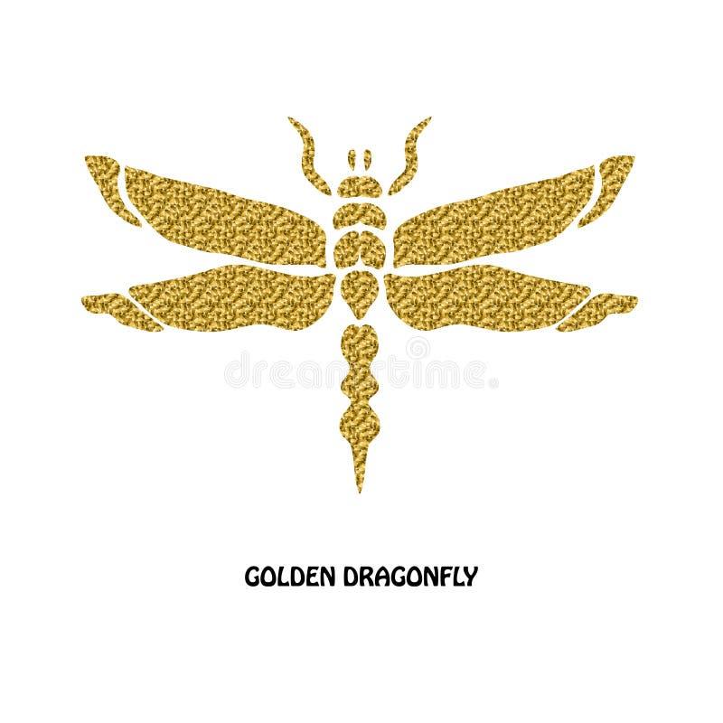 Golden Dragonfly Symbol Stock Illustration Illustration Of Graphic