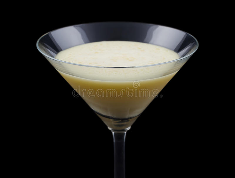 Golden Dream Cocktail cocktail on black background. Golden Dream is a cocktail that contains Galliano, Cointreau, fresh orange juice and fresh cream. It is royalty free stock photo