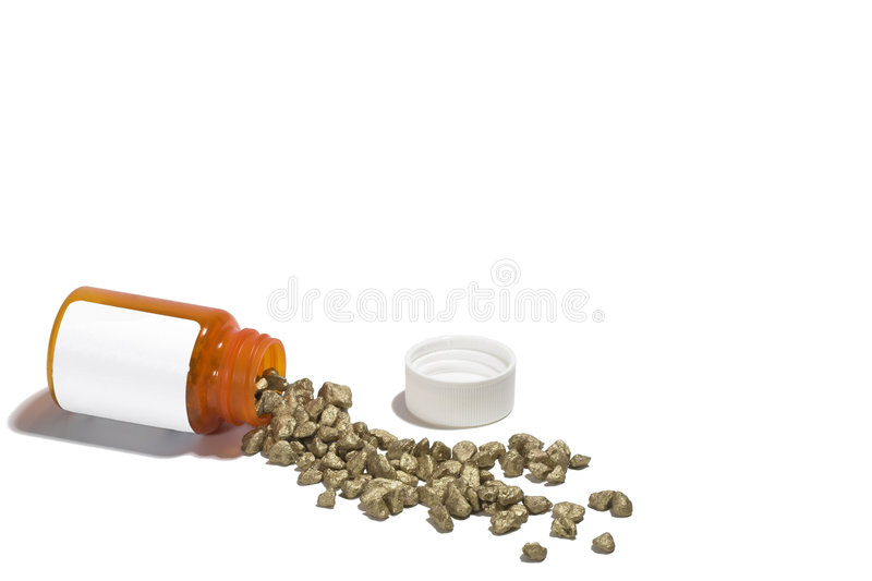 Golden Drugs stock photos