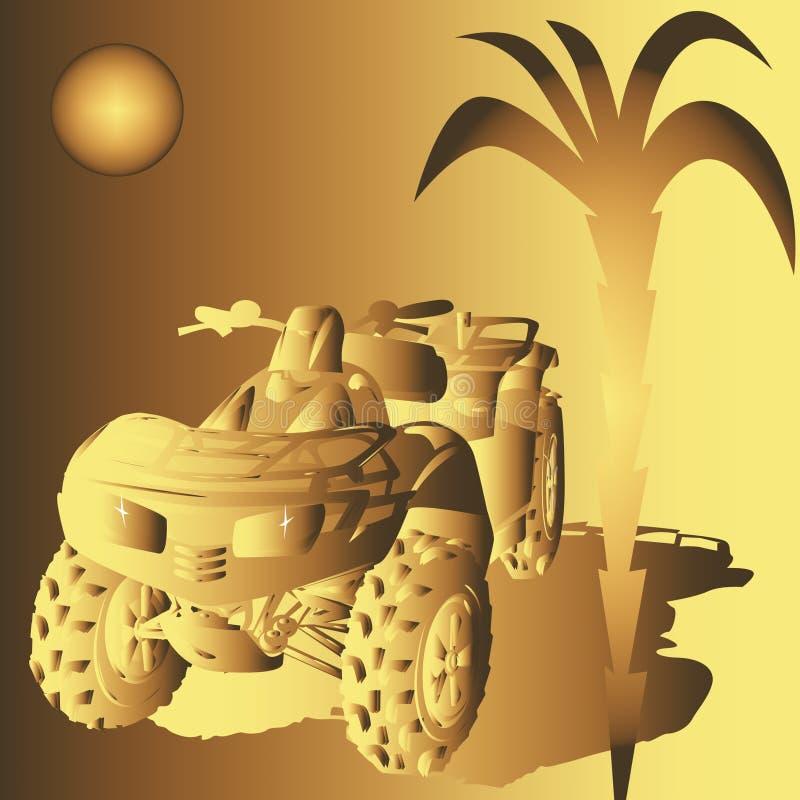 Golden Dune buggy royalty free illustration