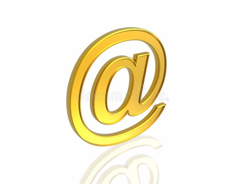 Download Golden e-mail symbol stock illustration. Illustration of symbol - 7834585