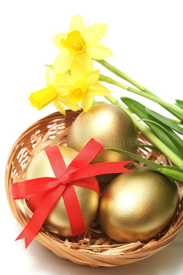 Golden easter royalty free stock photo