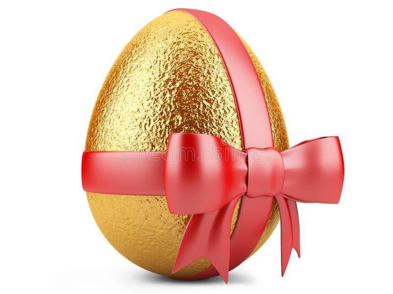 Download Golden Easter Egg With Red Ribbon Stock Illustration - Image: 34387441