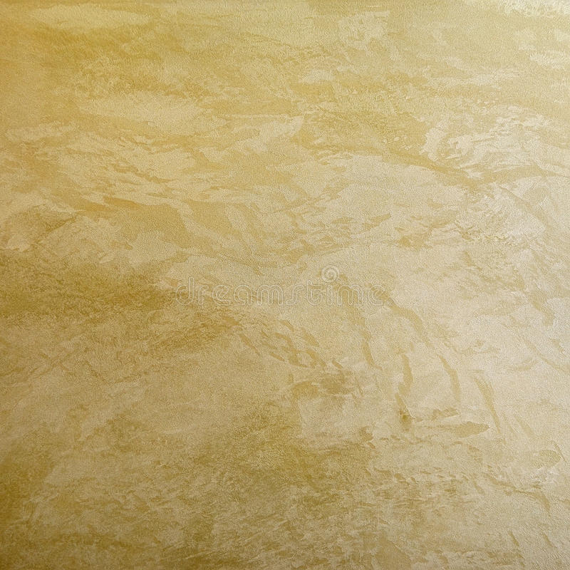 Golden Effect Decorative Plaster Surface Stock Image - Image of home ...