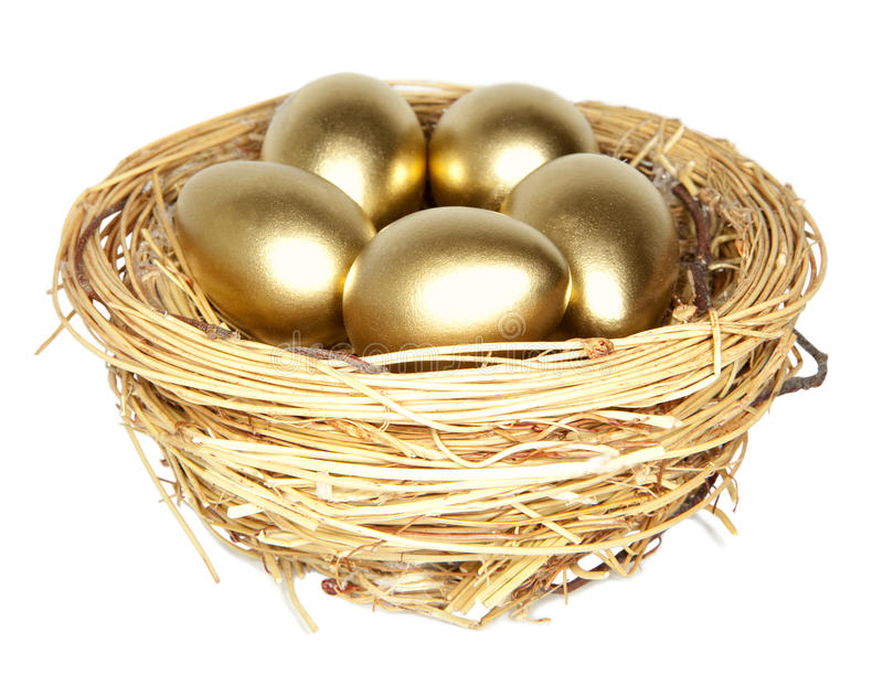 Golden egg royalty free stock photography