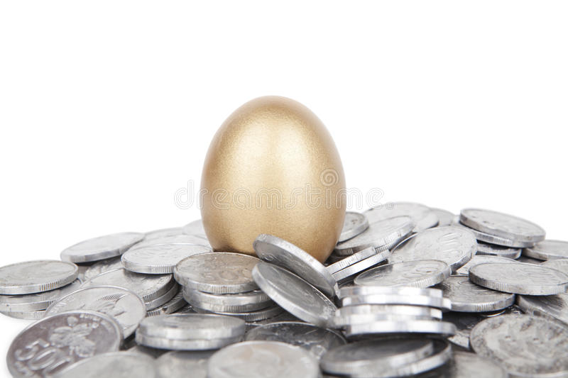 Download Golden egg with coins stock image. Image of commodities - 23282769