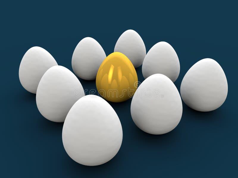Golden egg vector illustration