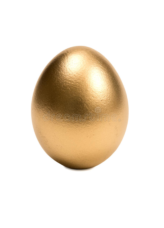 Isolated Golden Egg Stock Images