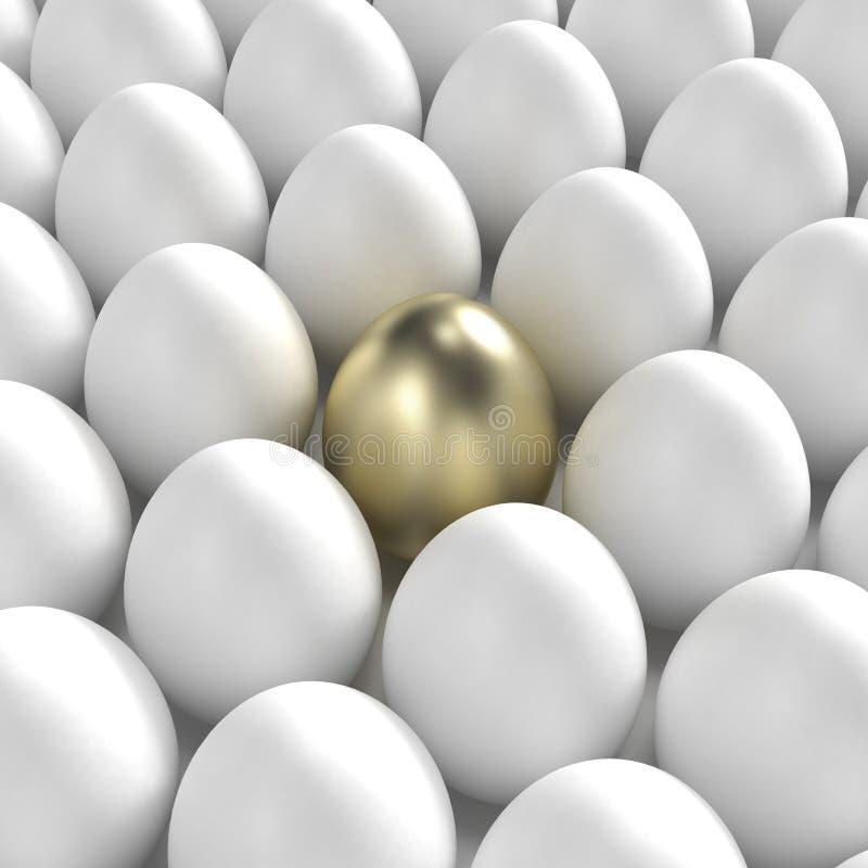 Download Golden Egg Among Usual White Eggs Stock Illustration - Image: 22033839