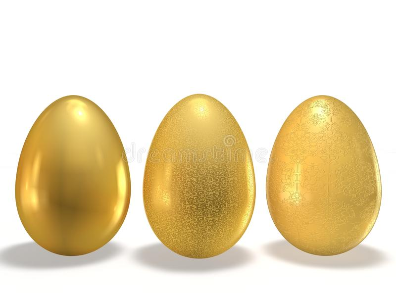 Download Golden eggs stock illustration. Illustration of eggs - 23038197