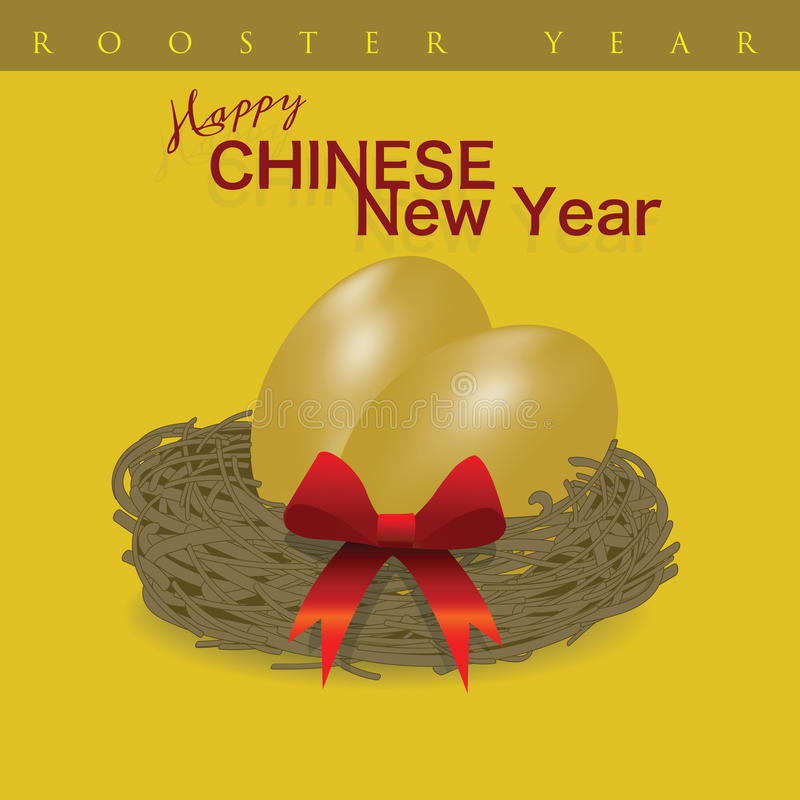 Golden eggs as gifts for Chinese New Year stock illustration