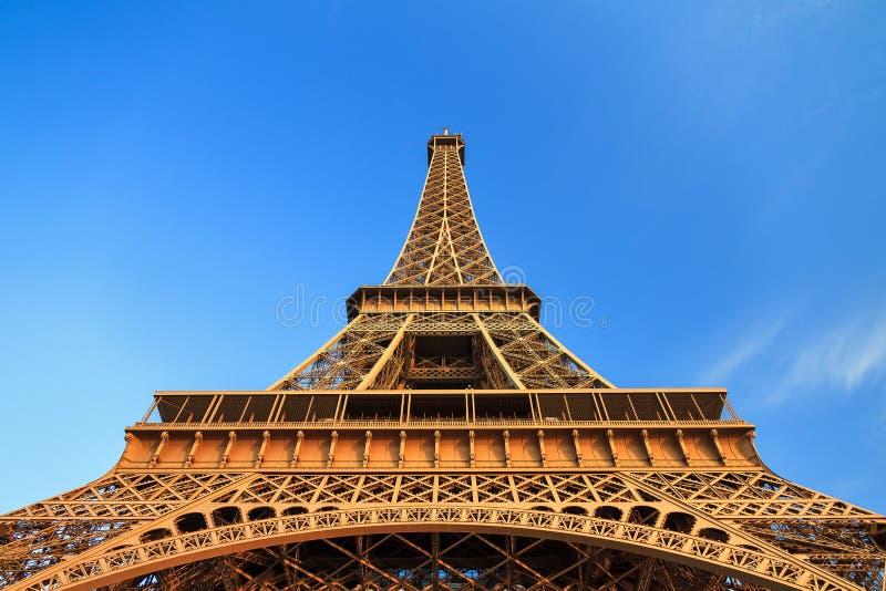 Golden Eiffel tower stock photos