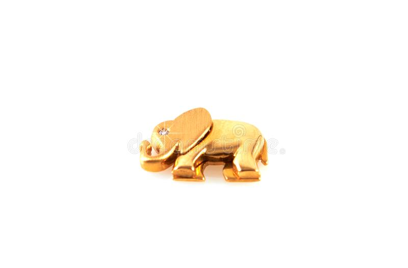 Golden elephant with diamonds royalty free stock photo