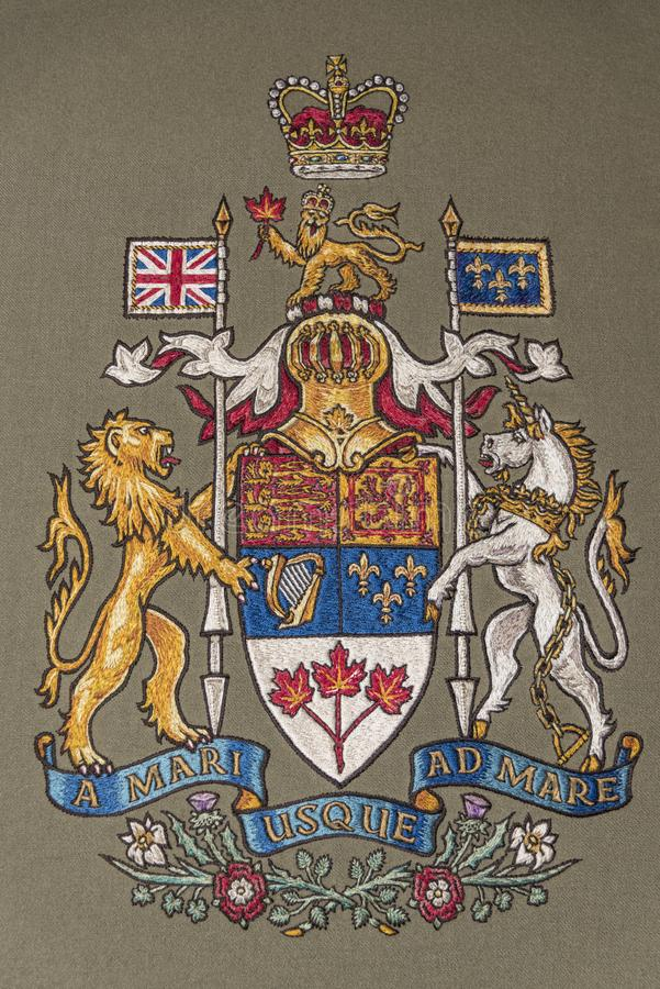 Canada coat of arms stock images