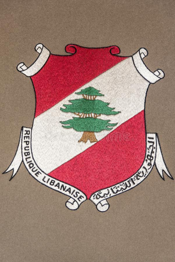 Libanon coat of arms royalty free stock photography