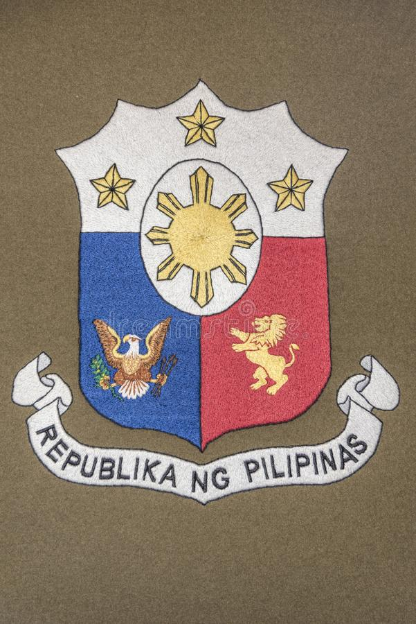 Te Philippines coat of arms royalty free stock photography