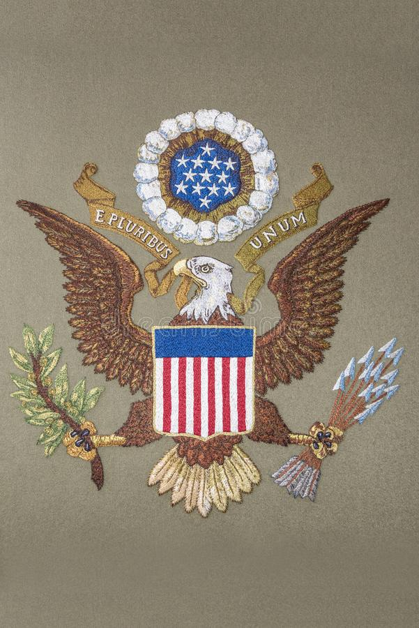 United of America coat of arms royalty free stock photography