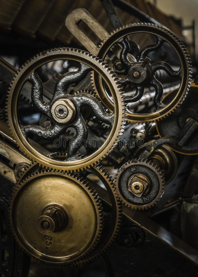 Golden Era van Machines stock fotografie