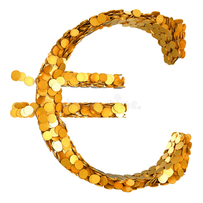 Download Golden Euro Currency And Cash Stock Illustration - Image: 16834342
