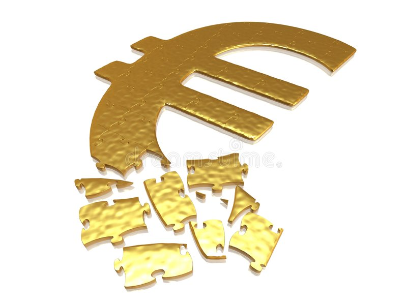 Download Golden euro puzzle stock image. Image of means, pattern - 6899929