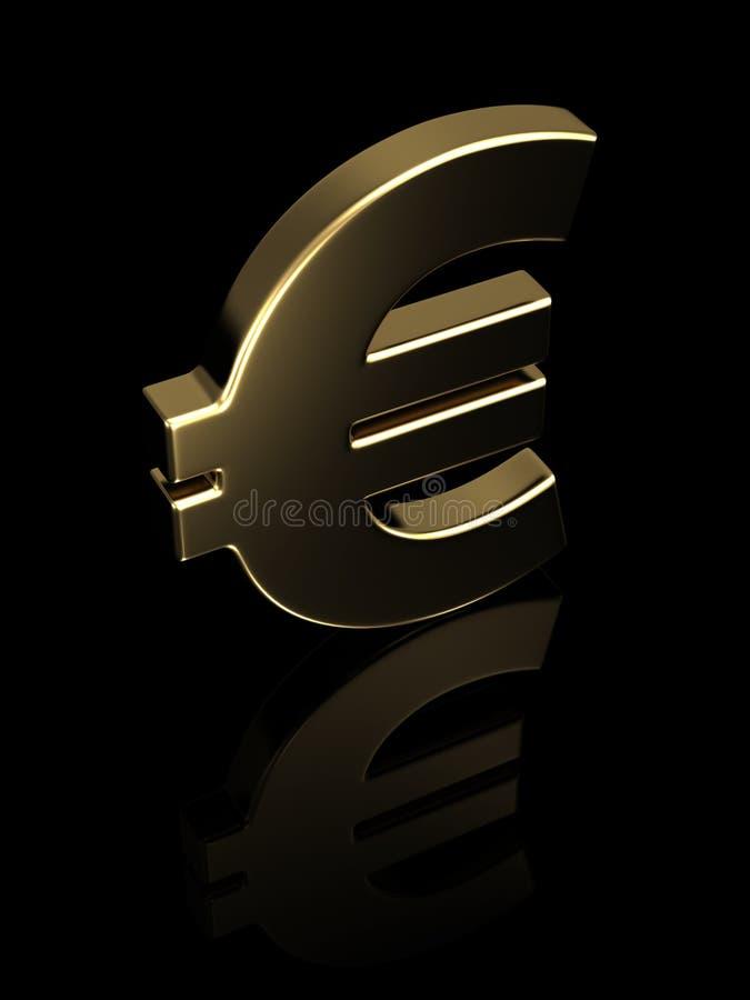 Golden Euro Symbol Stock Image